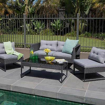 Excalibur Outdoor Living Maxim 4 Piece Lounge Setting HX000224DGY