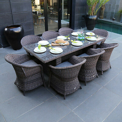 Excalibur Outdoor Living Mirage 9 Piece Dining Set HX0100210LHT