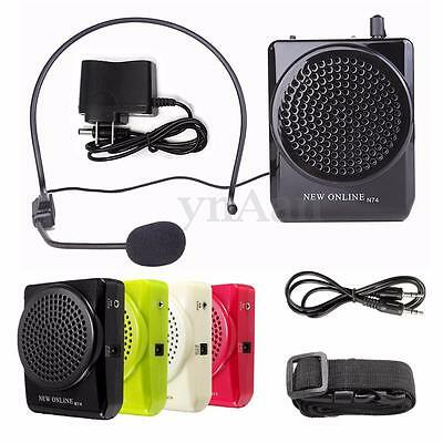 N74 15W Waistband Voice Amplifier Teaching Guiding Speaker + Headset Microphone