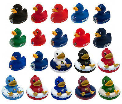 Official Football Club - Rubber Bath Time DUCK (New/Gift Box) Gift/Novelty/Fun