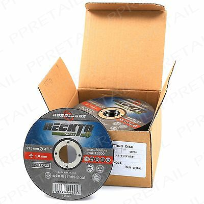 "50x GERMAN ENGINEERED 1mm THIN METAL CUTTING DISC 115mm/4.5"" Angle Grinder Blade"