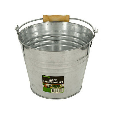 Large Metal Garden Bucket 8 Pack