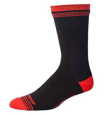 Showers Pass Crosspoint Waterproof Cycling Crew Sock - in Chili Red / Black