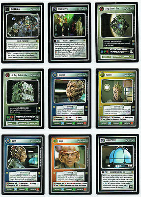 Star Trek Ccg The Borg Complete Set Of 20 Rare Cards