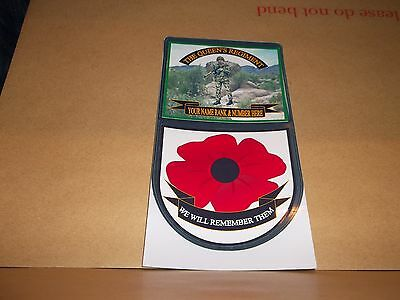 DUKE OF EDINBURGH/'S ROYAL REGIMENT CAR WINDOW REMEMBERANCE STICKER.