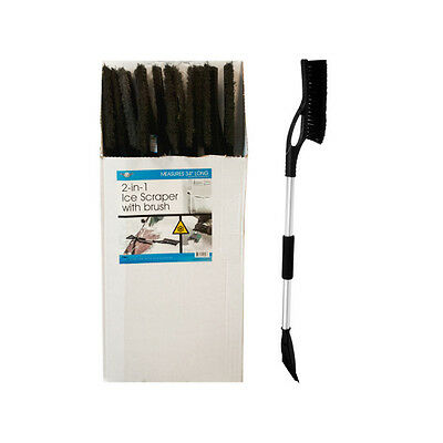 2-In-1 Ice Scraper with Brush Display 36 Pack