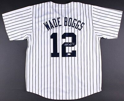 cheap for discount 14149 c2898 WADE BOGGS SIGNED custom New York Yankees jersey with JSA and HOF  inscription