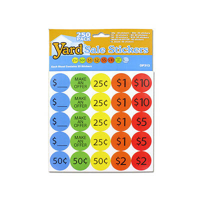Yard Sale Pricing Stickers 72 Pack