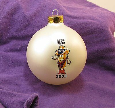"Hostess IBC ""Twinkie the Kid"" 3"" glass ball Christmas Ornament in box 2003"