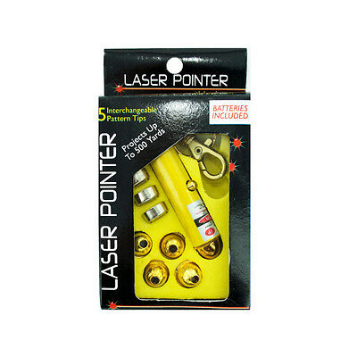 Laser Pointer With Interchangeable Heads 25 Pack