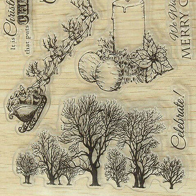 Clear Rubber Silicone Stamp Christmas Tree Stamps Sheet Scrapbooking Cardmaking