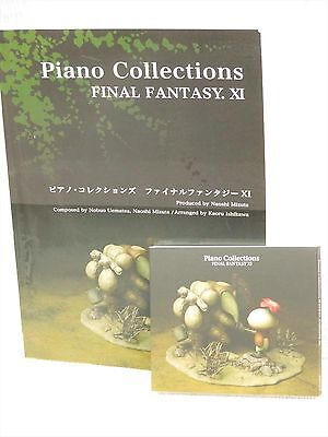FINAL FANTASY XI 11 PIANO COLLECTIONS Set of SCORE & MUSIC CD Book *
