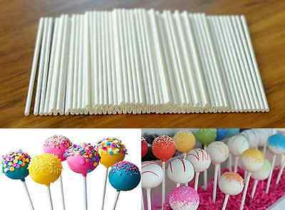 100 pcs White Pop Plastic Sticks Chocolate Cake Lollipop Sweet Candy Making US