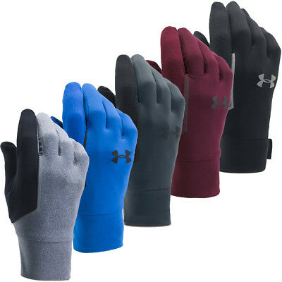 Under Armour 2017 Mens UA No Breaks Armour Run Liner Winter Sports Gloves
