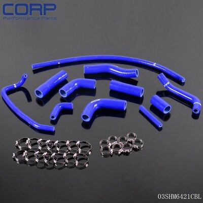 Gplus  Silicone Radiator Coolant Piping Hose Kit For YAMAHA YZF R6 2006-2007 BL