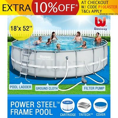 549x132cm Bestway Above Ground Swimming Pool Steel Pro Frame Round Filter Pump