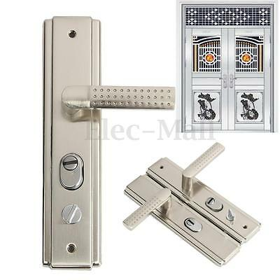 Stainless Steel Privacy Door Security Entry Lever Mortise Handle Lock Full Set