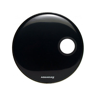 Aquarian 22 inch Small Port Black Bass Drum Head (NEW)