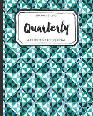 Quarterly Guided Bullet Journal Teal Geo