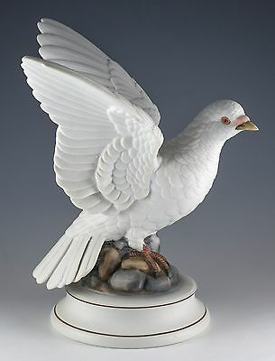 Vintage Andrea by Sadek Porcelain White Dove Bird Figurine 8.5 Inch