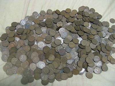 Huge Lot  Of Rare 2000+ Canadian Pennies 1937 To 52 Mixed King George VI Era.