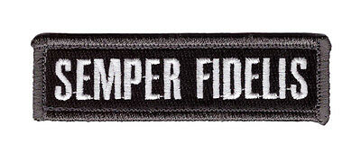 Semper Fidelis Fi  Marine Name Tag Tactical Combat Morale Hook Patch