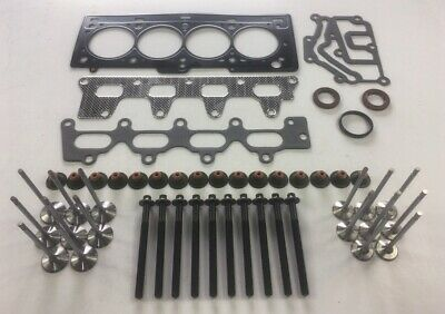 FOR RENAULT CLIO 1.2 8V 01 ON D7F HEAD GASKET SET BOLTS 4 INLET 4 EXHAUST VALVES