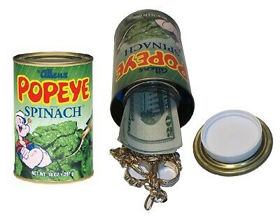 POPEYE SPINACH Diversion Can Safe Stash Box Metal Piggy Bank #3