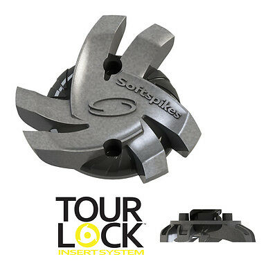 SoftSpikes Silver Tornado Golf Cleat Spikes Tour Lock/Fast Twist