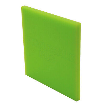 Lime Green Acrylic Perspex Sheet Plastic Panel Material A5 A4 & A3 3mm & 5mm
