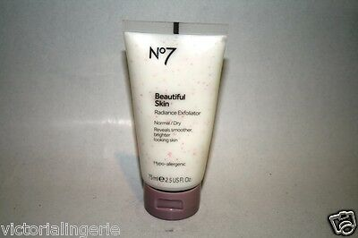 Boots No7 Beautiful Skin Radiance Exfoliator 75ml Normal to Dry NEW