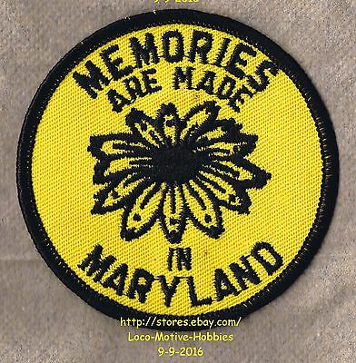 LMH PATCH Badge MEMORIES ARE MADE  State Flower BLACKEYED SUSAN Rudbeckia Yellow