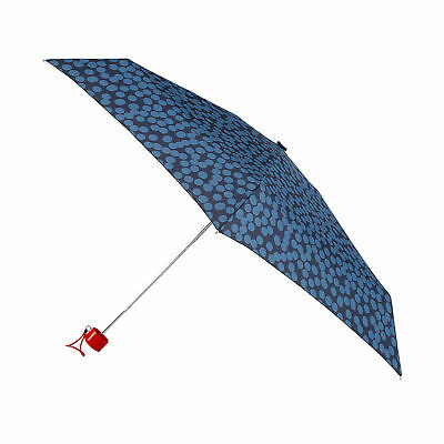 Totes Mini Thin Round Umbrella - Large Blue Speckle Dot