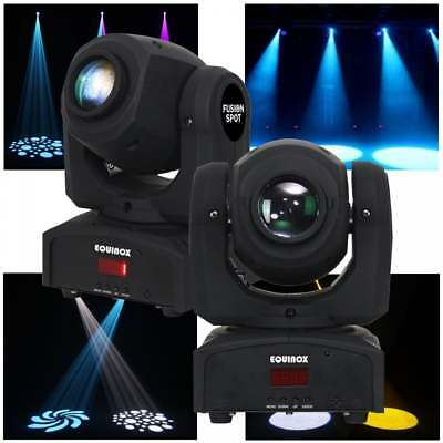 2 x Equinox DJ Fusion Spot Mk2 LED DMX Pocket Moving Heads Lighting Effect Disco