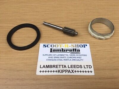 Metal Speedo Worm Drive Kit & Seal For Lambretta Gp-Li-Sx-Tv. Series 1 ,2 & 3.