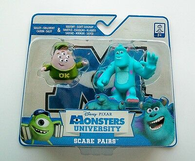 DISNEY Pixar MONSTERS UNIVERSITY Scare Pairs SQUISHY (4cm) & SULLEY (6cm)