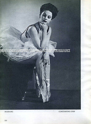 German Ballerina Ingeborg Heuser: Clipping