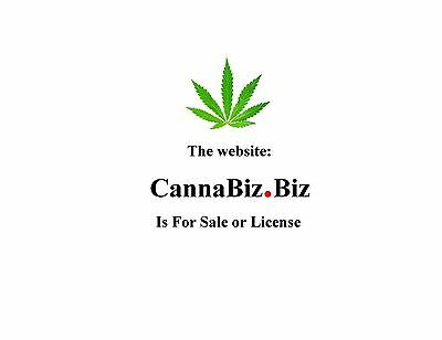 HEMP / MARIJUANA > CANNABIZ®  website is FOR SALE