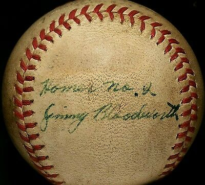 1948 Int League GAME USED Montreal Royals Jimmy Bloodworth Signed vtg RARE Ball