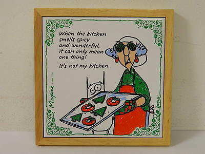 Maxine By J Wagner Christmas Decoration Trivet Funny Crabby Lady Hallmark
