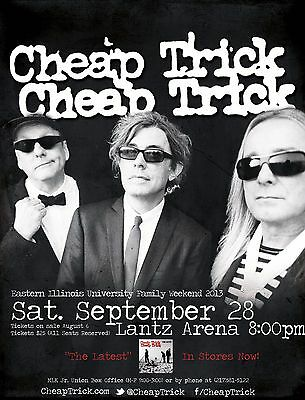 """Cheap Trick """"family Weekend 2013"""" Eastern Illinois University Concert Poster"""