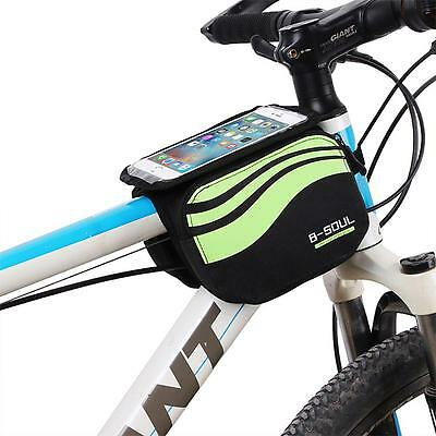 Cycling Touch Case Front Frame Bag Bicycle Tube Pannier Pouch 5.7 inch Cellphone