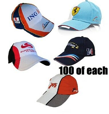 CAPS X 5 Different 100 of each Job Lot Formula One 1 F1 Wholesale Clearance NEW!