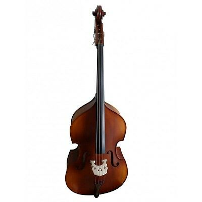 Double-Bass brown-matte finishing new half-carved, made in Europe