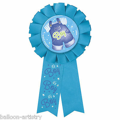 Blue Boy's CUTE CLOTHESLINE Baby Shower Party Prize Award Ribbon Badge