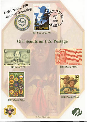 GIRL SCOUTS: Celebrating 100 Years of SCOUTING on 5x7 First Day Cover