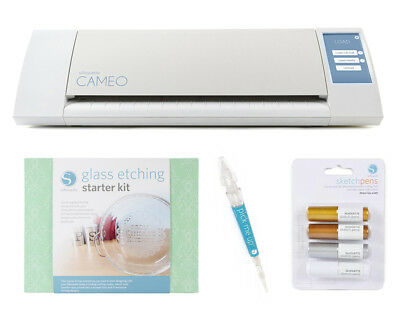 New Silhouette Cameo Electronic Cutting Machine Glass Bundle & Free Tools