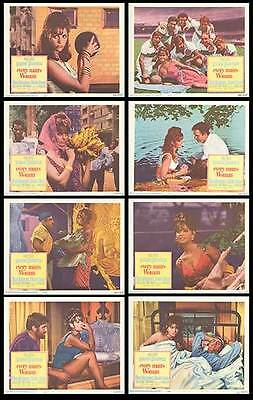 EVERY MAN'S WOMAN orig 1967 lobby card set CLAUDIA CARDINALE 11x14 movie posters