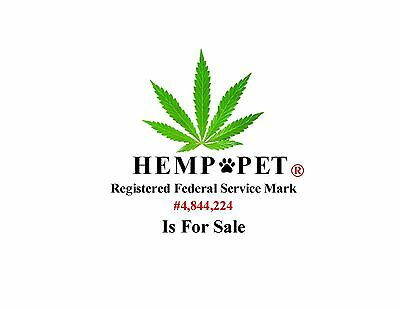 HEMP*PET® a REGISTERED Federal consulting Service Mark is FOR SALE