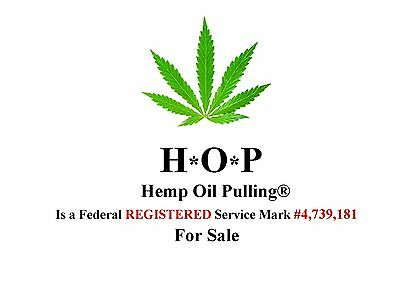 HEMP OIL PULLING® a registerd Federal Service Mark is > FOR SALE